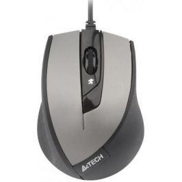 Мышь проводная A4TECH N-600X-2 V-Track Padless серый чёрный USB