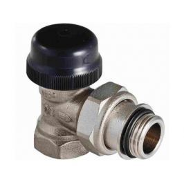"""Клапан термостатический для радиатора угловой с преднастройкой (KV 0,1-0,6) 1/2"""""""