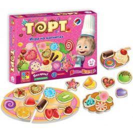 Магнитная игра развивающая Vladi toys «Маша и Медведь» Торт VT3003-01