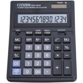 Калькулятор бухгалтерский Citizen SDC-554S 14-разрядный черный