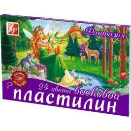 Пластилин ФАНТАЗИЯ восковой 24 цв, 420гр., стек, в карт. уп. 25С1525-08