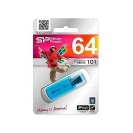 Внешний накопитель <USB2.0> 64Gb Silicon Power Helios 101 Blue (SP064GBUF2101V1B)