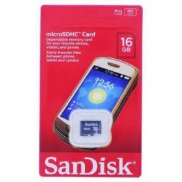 Карта памяти Micro SDHC 16Gb Sandisk Class 4 (SDSDQM-016G-B35)