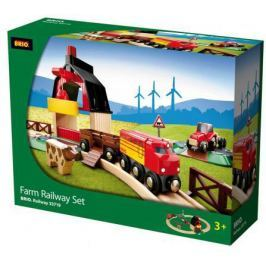 Железная дорога Brio с мини-фермой и кормушкой