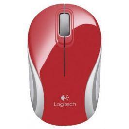 Мышь беспроводная Logitech M187 красный USB + радиоканал 910-002732