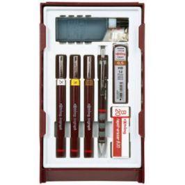 Набор изографов Rotring College Set 0.20/0.40/0.80мм 3шт + карандаш Tikky 0.5 мм и 4 картриджа S0706970