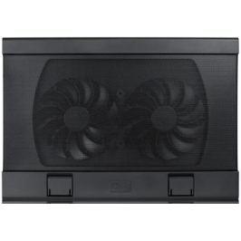 """Подставка для ноутбука 17"""" Deepcool WIND PAL FS 382x262x24mm 2xUSB 793g Fan-control 22-27dB черный"""