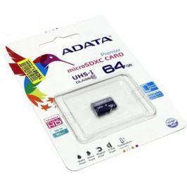Карта памяти Micro SDXC 64GB Class 10 A-Data UHS-I AUSDX64GUICL10-R