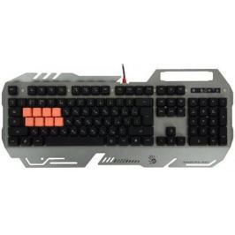 Клавиатура проводная A4TECH Bloody B418 USB черный серый