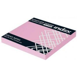 Набор стикеров с липким слоем Index 100 листов 76x76 мм светло-розовый 92312576/I433804
