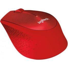 Мышь беспроводная Logitech M330 Silent Plus красный USB 910-004911