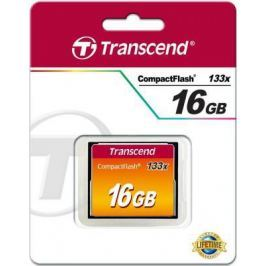 Карта памяти Compact Flash 16Gb Transcend 133x Type I TS16GCF133