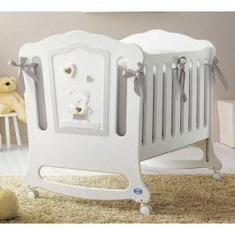 Кроватка -качалка Pali Zoe (белый/песочный)