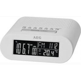 Часы с радиоприёмником AEG MRC 4145 F white белый