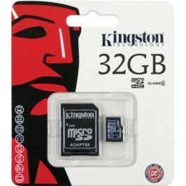 Карта памяти MicroSDHC 32GB Kingston Class4 <SDC4/32GB>