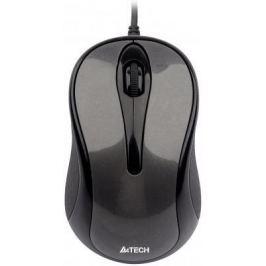 Мышь проводная A4TECH N-360-1 V-Track Padless серый чёрный USB