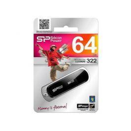 Внешний накопитель <USB2.0> 64Gb Silicon Power Luxmini 322 Black (SP064GBUF2322V1K)