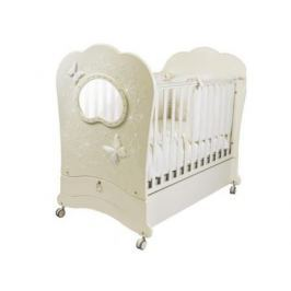 Кроватка с маятником Feretti FMS Oblo Majesty Brillante (avorio)