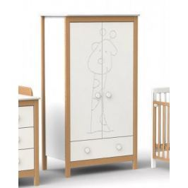 Шкаф двухстворчатый Fiorellino Giraffe (white/natur)