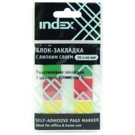 Стикер Index 60 листов 20х44 мм многоцветный I465810