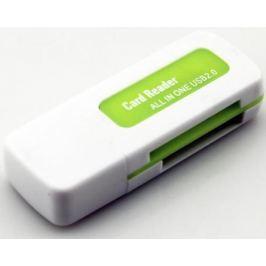 Картридер внешний ORIENT CR-011G SDHC/SDXC/microSD/MMC/MS/MS Duo/M2 USB 2.0 бело-зеленый