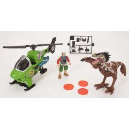 Игровой набор CHAP MEI Динозавр Ютараптор и охотник на вертолете (стреляет) 520002-2