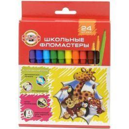 Набор фломастеров Koh-i-Noor Веселые животные 1 мм 24 шт разноцветный 1002/24 KS
