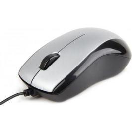 Мышь проводная Gembird MUS-U-002 чёрный серебристый USB