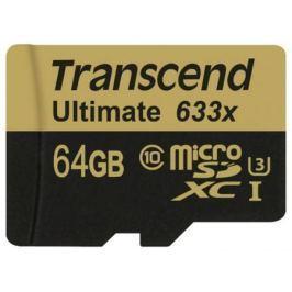 Карта памяти Micro SDXC 64Gb Class 10 Transcend TS64GUSDU3 633x