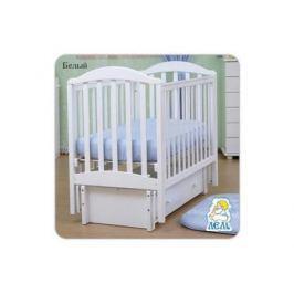 Кроватка с маятником Лель Жасмин АБ19.3 (белый)
