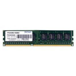 Оперативная память DIMM DDR3 8Gb (pc-12800) 1600MHz Patriot