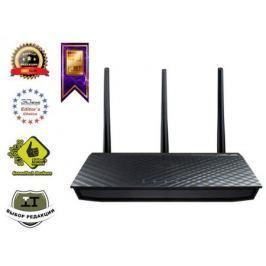 Беспроводной маршрутизатор ASUS RT-AC66U 802.11aс 1300Mbps 2.4 ГГц 5 ГГц 4xLAN USB черный