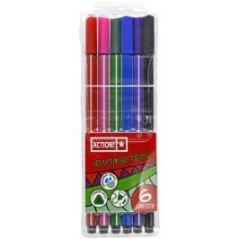 Набор фломастеров Action! AWP151-06 2 мм 6 шт разноцветный AWP151-06