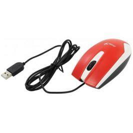 Мышь проводная Genius DX-100X белый красный USB