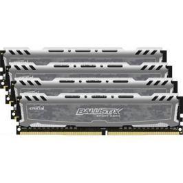 Оперативная память 16Gb (4x4Gb) PC4-19200 2400MHz DDR4 DIMM Crucial BLS4C4G4D240FSB