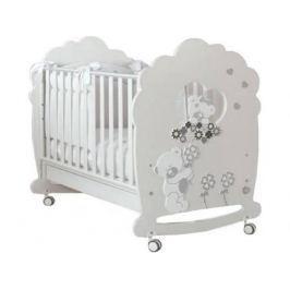 Кроватка-качалка Baby Expert Serenata (белый)