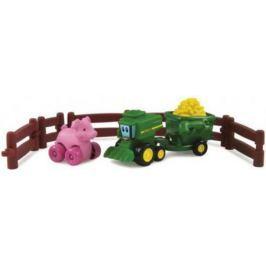 """Игровой набор Tomy """"Приключения трактора Джонни и поросенка на ферме"""" 9 предметов 377223"""
