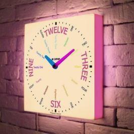 Часы настенные FotonioBox BoxPop VIII LB-508-35 белый розовый LB-508-35
