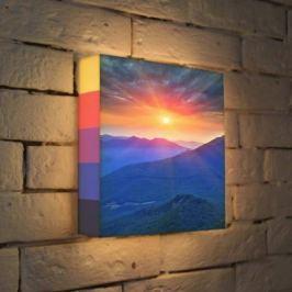 Лайтбокс Горный рассвет 25x25-099