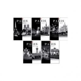 Тетрадь общая Хатбер Париж 60 листов клетка скоба 028411 в ассортименте