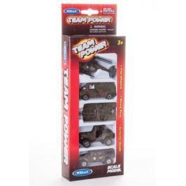 Игровой набор Welly Военно-полицейская команда камуфляж 5 шт 11 см 97506G(C)