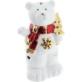 Подсвечник Winter Wings Мишка с елкой, керамика, светящийся 13 см N161686