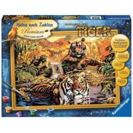Набор для рисования Ravensburger Раскрашивание по номерам Тигры от 10 лет 28805