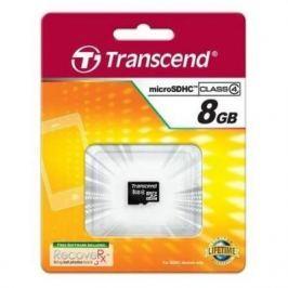 Карта памяти MicroSDHC 8GB Transcend Class4 no Adapter (TS8GUSDC4)