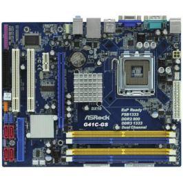 Материнская плата ASRock G41C-GS/R2.0 Socket 775 G41 2xDDR2 2xDDR3 1xPCI-E 16x 2xPCI 1xPCI-E 1x 4xSATA II mATX Retail