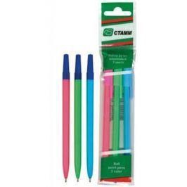 Набор шариковых ручек СТАММ РШ06 3 шт разноцветный 1 мм в ассортименте РШ06