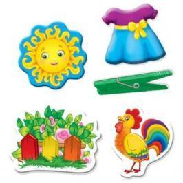 Настольная игра Vladi toys развивающая Прищепочки и липучки Домик