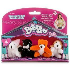 """Игровой набор Beanzees """"Мышка, Котик, Медведь, Песик"""" 4 предмета B34021"""