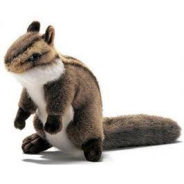 Мягкая игрушка герой мультфильма Hansa Бурундук сидящий искусственный мех коричневый 16 см 3090