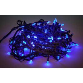 Гирлянда электрическая Новогодняя сказка 100 LED, синее свечение, зеленый провод, 8 реж.